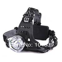 free shipping 5pcs/lot HK post  Headlamp bike light 1600 Lumens CREE XM-L T6 LED Headlamp Headlight Rechargeable