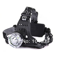 free shipping 5pcs/lot HK post  Headlamp bike light 1600 Lumens CREE XM-L T6 LED Headlamp Headlight Rechargeable