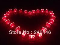 Love Heart Shape Card Led Light 50PCS Bulk Sell/Factory Direct Selling Cute Light/Convenient Carry Pocket Light Multifunctional