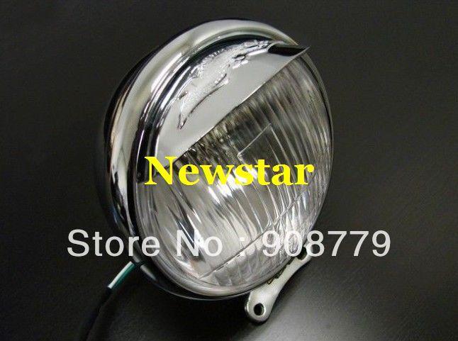 "Brand New MOTORCYCLE Chrome 5.5"" Steel Headlight for Honda Shadow VT VTX Chopper Cruiser SH-501(China (Mainland))"