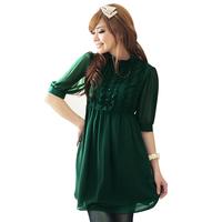 Hot ! Plus Size Clothing Slim Half sleeve Double layer Chiffon Dress Free Shipping S-M-L-XL-XXL-XXXL-XXXXL