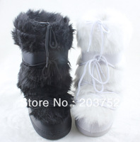 2015  Autumn and Winter Women Space Shoes Flat Heel High Boots in The Moon Thermal Fashion Snow Boots Flats Shoes Boots Pumps