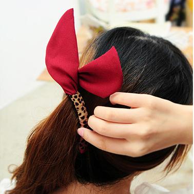 1771 grátis frete New arrival bonito orelhas de coelho projeto Hairgrip mulheres acessórios de cabelo pano arte clipes para meninas(China (Mainland))