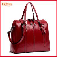 B1399 Luxury 2014 New Fashion Designer Handbags Woman's Wax Cowhide Real Leather Bag Zipper Totes Women Messenger Bags
