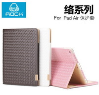 For Apple iPad Air Original Rock Meridian Series High Quality Smart Wake Up Function Flip Cover Stand Leather Case Free Shipping