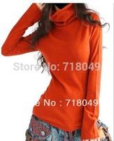 Autumn Cashmere Blends Sweater Female Sweater Flare Sleeve Loose Sweater Basic Shirt Women Free Shipping Large Big S-2XL