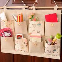 S 6846 Free shipping minimum order $10 (mixed items) Fashion cotton wardrobe back door wall storage bags cloth bag storage box