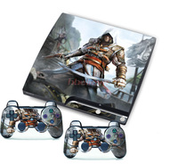 Free Shipping  ~ Latest Pop Sticker Cover for PS3 Slim Decals Console and 2 Free Matching Controller Skins Game