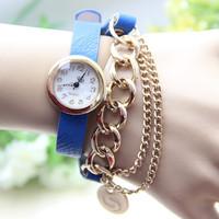 10 colors New Arrival Fashion Leather Bracelet Watch Leather Chain Watch Women Dress Watches1pcs/lot