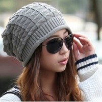 Male women's autumn and winter knitted hat female winter hat ear protector pocket cap winter hat knitted hat