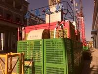 Elevator construction machinery construction, material hoist, construction elevator