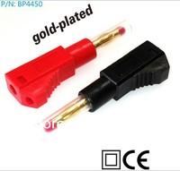 Factory Wholesale Pure Copper  4 mm Retractable  Elastic Sheath  Banana Plug Socket Connectors with High Quality and 50pcs/lot