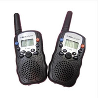 radio walkie talkie pair PMR T388 interphone frs/gmrs talky walky black color up to 1.5km+ white bright LED flashlight for dark