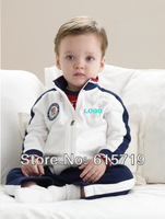 Baby boy autumn long-sleeved suit/ Children clothes/ Kids sport striped two pieces set Free shipping
