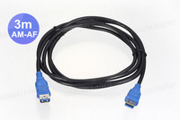 80pcs/lots USB3.0 USB 3.0 AM to AF Male to Female Extension Cable 3m 10FT  ,Free shipping By Fedex