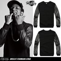 A ap asap rocky male pu leather side zipper sweatshirt outerwear KTZ HBA PYREX 23 brand designer pullover shirt S-XXL