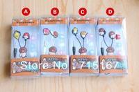 New headphones 3.5mm In-Ear Japanese Game Funghi gardening kit Earphones Wholesale 100pcs/lot