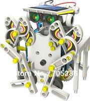 Free Shipping 14 in 1 Educational Solar Robot Kit Toy / 14-in-1 Solar Robot Kit