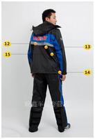 Free shipping New Genuine motorcycle raincoat rain pants suit upscale outdoor rainproof clothing