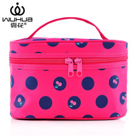 2014 women's cosmetic bag case cherry print make up bag good high quality clutch bag cosmetic box