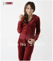Free Shipping Women's Brand Velvet Track suits,Women Velours Suits,For women suit sports suit fashion sportswear S-XL