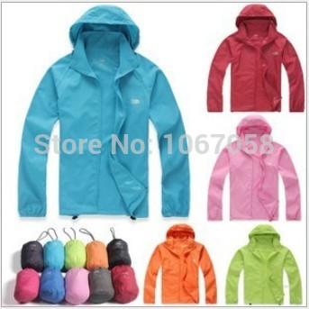 Factory direct high quality pv rain coat women universal waterproof mountain climb jacket men sun protection jacket women XS-3XL(China (Mainland))