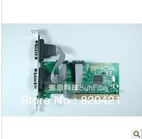 2014 new PCI-232 expansion card two pin 9 needle serial card COM card MCS9865 high quality