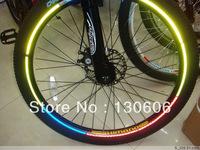 Free shipping 10Pcs/lot reflective stickers bicycle tire wheel reflective stickers reflective stickers mountain bike equipment.