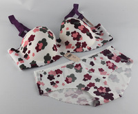 new 2013 fashion style B cup bra set! push up New Arrival Flower one piece seamless bra and pants set hot selling