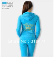 Spring / Fall 2014 Women's Brand Velvet fabric Tracksuits, Velour suit women, Sport Track suit, Hoodies & Pants SIZE S - XXL