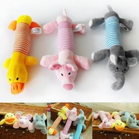 Newest Dog Toys Pet Puppy Plush Sound Chew Squeaker Squeaky Pig Elephant Duck