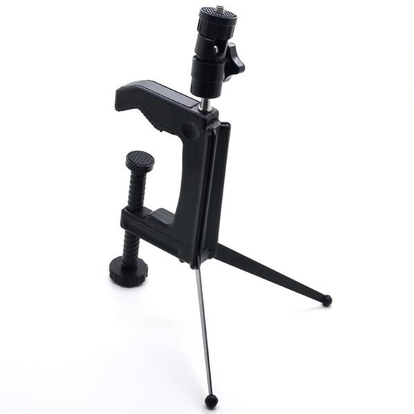 Camera Tripod Rotation Adjustable C-Clamp Mini Tripod Table for digital camera DV Free Shipping(China (Mainland))