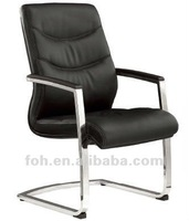 Black Leather Office Conference Chair FOH-C09