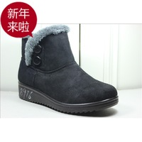 Velvet wool comfortable soft outsole quinquagenarian thermal slip-resistant casual snow boots cotton-padded shoes boots