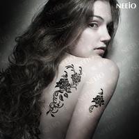 $2 temporary tattoo  ultralarge sexy flower   waterproof Women  tattoos stickers body art tattoo sticker