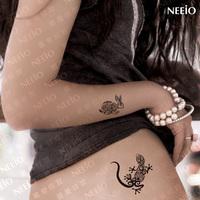 $2 temporary tattoo  animal gekkonidae horse cat fish rabbit dolphin  waterproof  tattoos stickers body art tattoo sticker