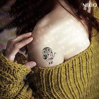 $2 temporary tattoo   owl personality paragraph  waterproof women  tattoos stickers body art paint tattoo sticker
