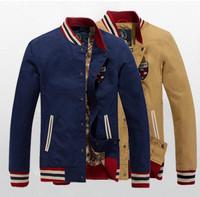 2014 Classic Slim Fit College Mens Varsity Baseball Jacket Spring Autumn Winter Sports Jaquetas Masculina Sportswear Jackets