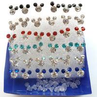 Colored cartoon earrings hypoallergenic earrings  Free Shipping 57209