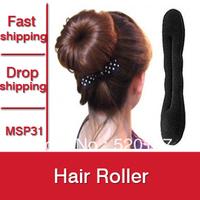 12pcs Hot Selling Magic Sponge Hair Styling Tool Hair Clip Accessories Bun Maker Hair Roller -- MSP31  PT05 ST