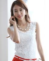 2013 new women knitted cotton lace spaghetti strap vest ladies plus size basic sleeveless lace tank top shirt