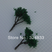 300pcs H :20mm  Manufacturer dark green Scale Train Layout Set Model Scale Wire Trees in size 30/10