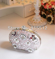 Hot Sale Free Shipping Rhinestone Flowers Chains Handbags for Party Evening Clutch Bags