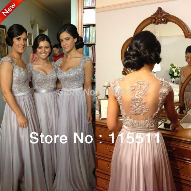 2014 versandkostenfrei handstickerei perlen sexy geliebte maßgeschneiderte chiffon formale mädchen kleid brautjungfer kleider