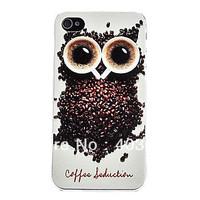 5 pcs Owl Design Hard  Case for iPhone 4 4S