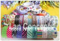 Free shipping 5M Japanese Washi Masking Adhesive Tape for Decoration Scrapbooks - 15pcs/lot LPT0001B