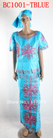 african bazin material lady clothes on sale of BC1001-tblue