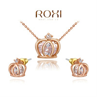 2014 New ROXI Fashion women Imperial crown sets, AAA zircon,Valentine's Day/Chrismas/Wedding gift .Noble female set,2070201750