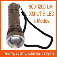 3pcs 900-1200 lumens XM-L U2 LED Flashlight Torch Light Lamp Holster Free Shipping 82811