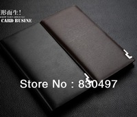 Promotion! Free shipping 2013 new fashion brand mens wallet, classic soild pattern designer wallet leather purse